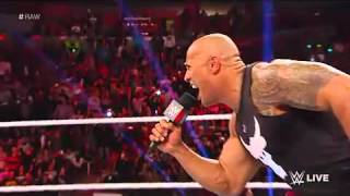 WWE The Rock IF You Smell What The Rock İs Cooking 2016