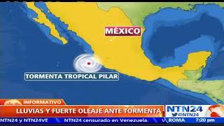 Tormenta tropical Pilar amenaza la costa oeste de México
