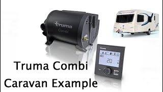 Truma Combi heating and hot water in a caravan example