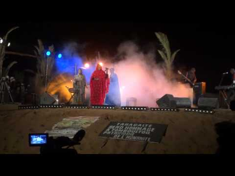 Noura Mint Seymali from Mauritania in Taragalte Festival 2012 – part 7, Mhamid Sahara Desert Morocco