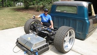 Finnegan's Garage Ep  19: Airbagged, Body Dropped, LS Swapped '67 Chevy C10 Project