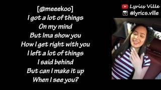 When I See You Challenge @meeekoo @uknowjayb (Lyrics)