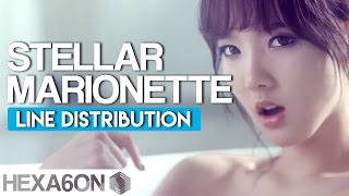 Stellar - Marionette Line Distribution (Color Coded)