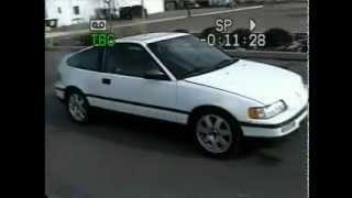 90 Honda CRX Si turbo, 0 to 130+ MPH