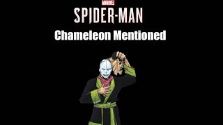 Chameleon Mentioned - Spider-Man PS4
