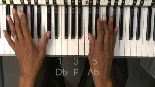 How To Play Chords On Piano Db Major Chord Lesson EricBlackmonGuitar KoolPiano