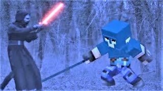 Realistic Minecraft: Star Wars Kylo Ren VS Minecraft Little Square Face Minecraft Song