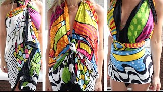 DIY: 11 formas de transformar canga em vestido!!