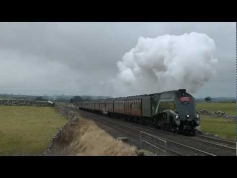 LNER A4 60009 The Winter Cumbrian Mountain Express 9th Feb 2013 .