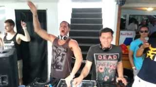 Prok & Fitch Live @ MIAMI WMC 2013 | ISLAND SESSIONS YACHT CRUISE - Can you feel it remix )