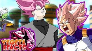 Vegeta Reacts To Trunks vs Goku Black EPIC RAP BATTLE! (DBS Parody)