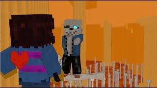 Vs Sans full battle Animation  - Minecraft Animation + Undertale