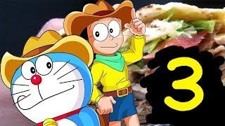 Doraemon le hace comerse un kebab a Nobita 3