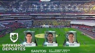 Los 11 titulares de América y Santos para el duelo a muerte en el Azteca de las semifinales
