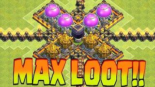 Clash Of Clans - LOADED TH9 GETS REKT | 5 COUNTDOWN!!| (Best loot raids)