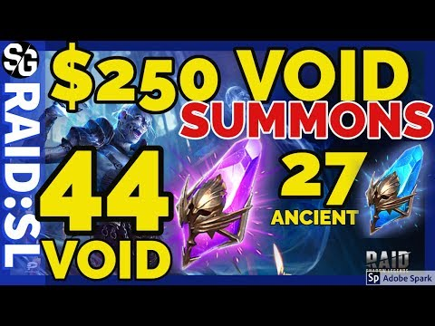 [RAID SHADOW LEGENDS] $250 VOID SUMMONS 44 VOID 27 ANCIENT SHARDS