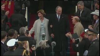 Former President George W. Bush and first lady Laura Bush arrive at Donal Trump Inauguration