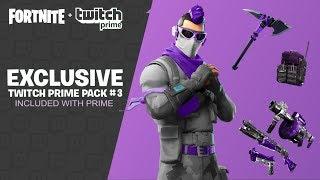 New Fortnite Twitch Prime Pack 3 - Fortnite Build Hack