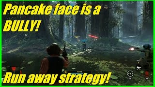 Star Wars Battlefront - Pancake face is a BULLY! | Great Nien Nunb strategy (HvsV)