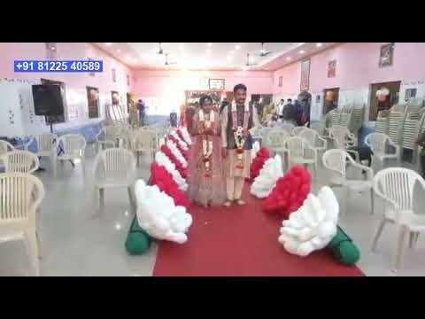 Inflatable Flower Chain Bride Groom Entry Digital Wedding +91 81225 40589