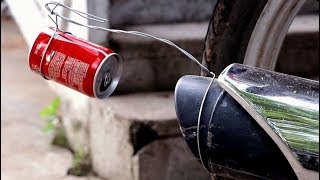 Change Bike Sound like Duke Bike with coke Tin - Homemade