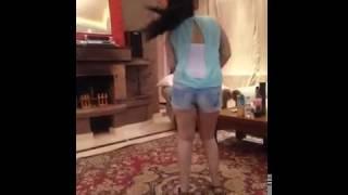 Hot Arabic girl exposing big boobs while dancing