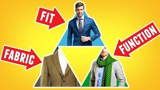 Intro To Style Pyramid (Fit, Function, Fabric) Wardrobe Basics For Men | RMRS