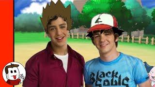 Drake and Josh trapped in Pokémon (Treehouse meme)