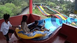 Crazy Water Slide at Melaka Wonderland