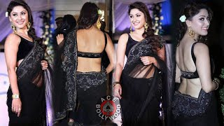 Manjari Phadnis in Beautiful Black Saree for Global Peace Fashion Show width=