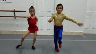 7 year old dancing salsa