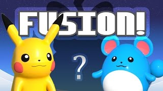 Pikachu and Marill Pokemon Fusions | Animated 3D