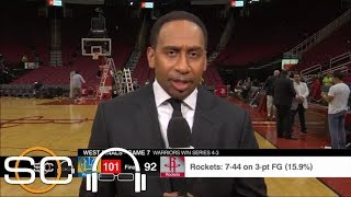 Stephen A. on Warriors' Game 7 win: Rockets 'missed CP3, it's just that simple' | SC with SVP | ESPN