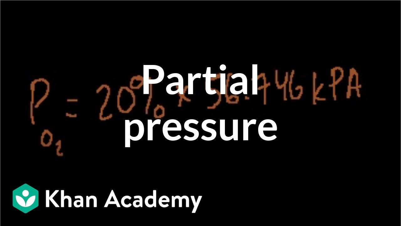 Partial pressure example | Chemistry | Khan Academy