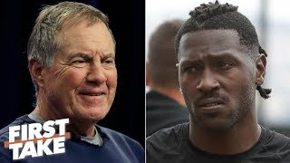 Antonio Brown won't last the season with Bill Belichick criticizing him - Damien Woody | First Take