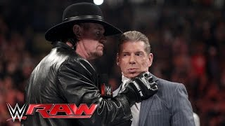 The Undertaker issues a chilling warning to Mr. McMahon: Raw, February 29, 2016 width=