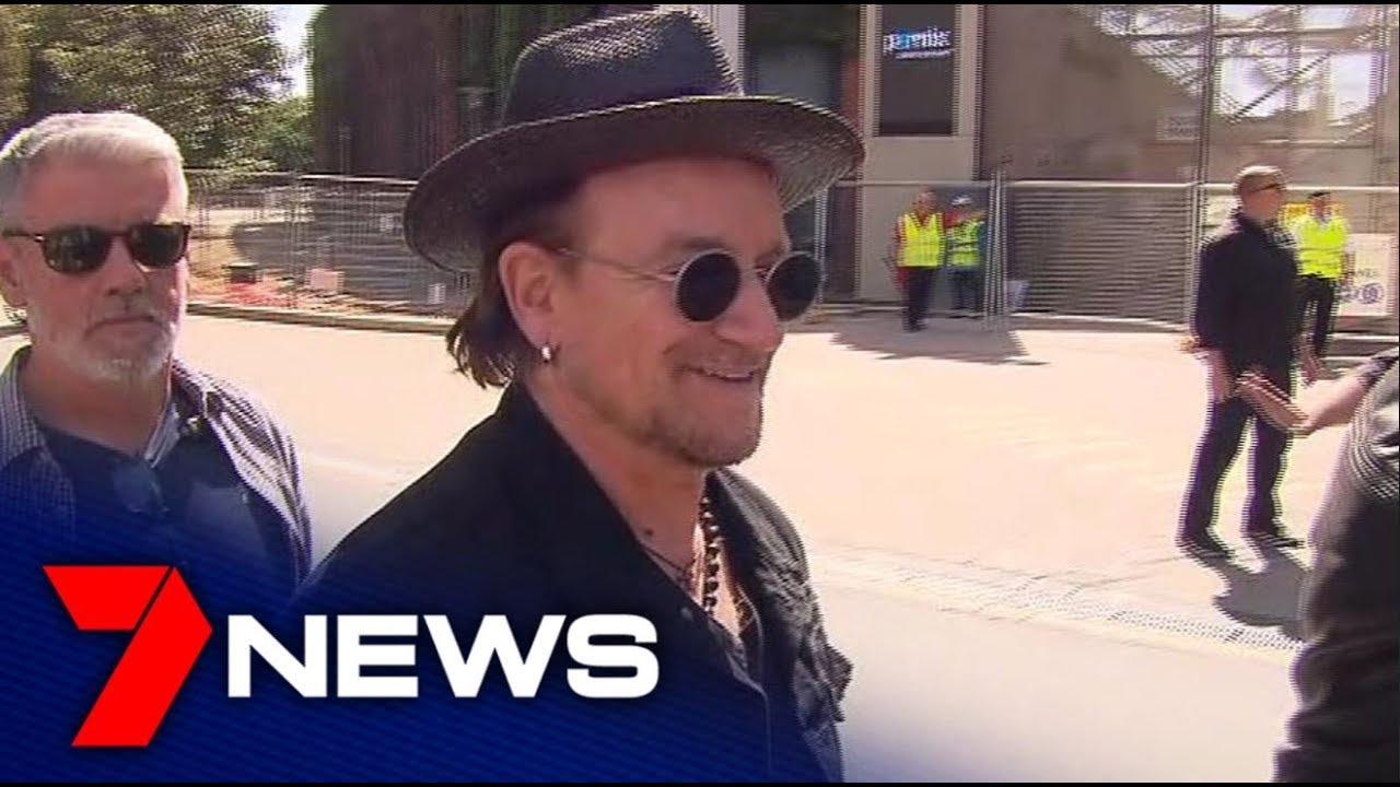 U2 Fans Stream into Adelaide Oval Ahead of the Irish Rockers' Show