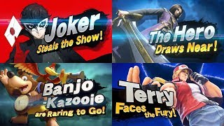 Super Smash Bros. Ultimate: All Newcomer Trailers ( Including Terry Bogard )