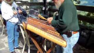 John Mason playing a Dulcimer at Chimney Rock