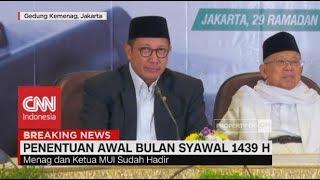 Sah! 1 Syawal 1439 H jatuh Pada 15 Juni 2018 width=