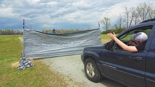 Can 1,000 Rolls Of Duct Tape Stop A Car??
