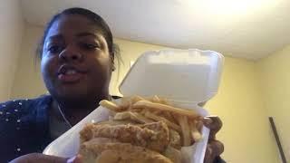 Royal Fish Shrimp and Chicken HORRIBLE 2.5 Stars Mukbang Messy Eating/ Smacking Review
