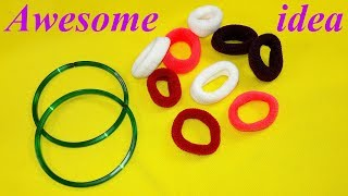 Best craft idea | Diy old bangles reuse idea | DIY arts and crafts | Awesome craft idea width=