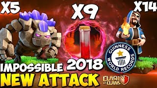 9 Skeleton Spell + PentaGoWi: NEW TH9 WAR ATTACK STRATEGY 2018   WORLD RECORD   Clash of Clans