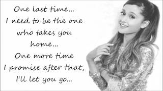 Ariana Grande - One Last Time (Lyrics Video)