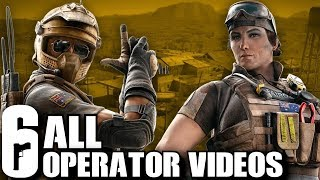Rainbow Six Siege All Operator Videos Including DLC (Year 4, Year 3, Year 2, Year 1) Trailers