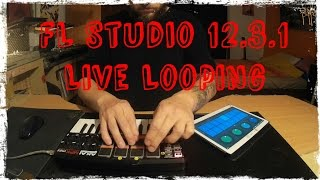 FL Studio 12.3.1. | Live Looping | Akai MPK mini | FL Remote