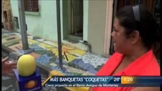 """Las Noticias - Más banquetas """"coquetas"""", crece proyecto en el Barrio Antiguo"""
