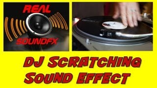 DJ scratching a record on turntable sound effect - realsoundFX