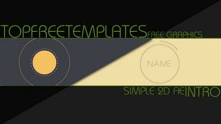 FREE Intro Template: 2D Simple After Effects #6